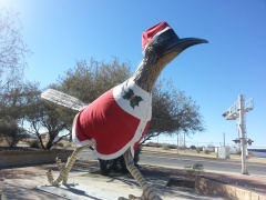 Paisano Pete: Giant Roadrunner in Fort Stockton, Texas.