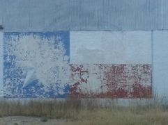 Texas Flag mural in Marathon