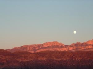 Sierra Del Carmens with full moon